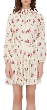 Maje Risoula Floral Print Belted Dress