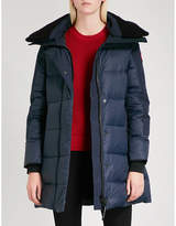 Canada Goose Blue Branded Altona Quilted Shell-Down Parka Jacket