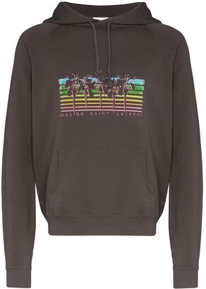 Saint Laurent Palm tree-print hoodie