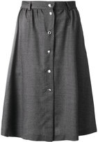 MAISON KITSUNÉ flared buttoned skirt