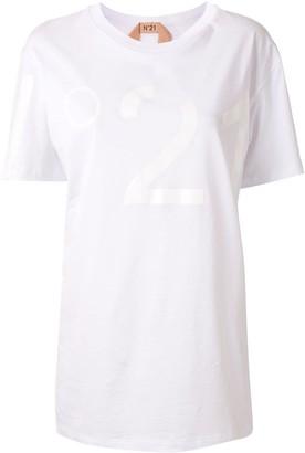 No.21 logo-print crew-neck T-shirt