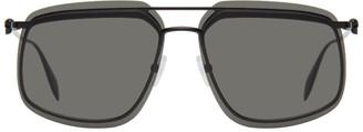 Alexander McQueen Black Skull Square Sunglasses