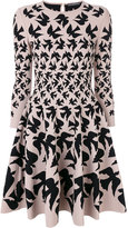 Alexander McQueen bird printed skater dress - women - Polyamide/Polyester/Spandex/Elastane/Viscose - XS