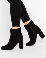London Rebel Calf Heeled Ankle Boots