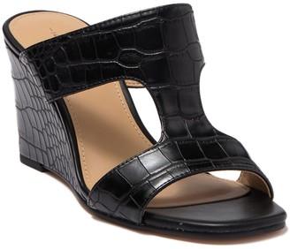14th & Union Samira Croc Embossed Wedge Sandal