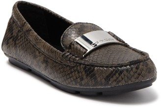Calvin Klein Lisette Leather Snakeskin Embossed Loafer