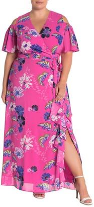 Rachel Roy Floral Ruffle Maxi Dress (Plus Size)