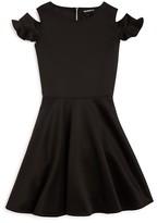 David Charles Girls' Cold Shoulder Dress - Sizes 7-16
