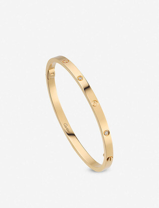 Cartier LOVE small 18ct yellow-gold and 6 0.15ct diamond bracelet