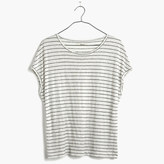 Madewell Linen Miracle Tee in Stripe