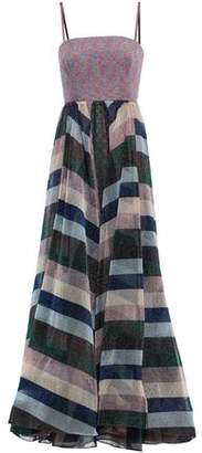 Missoni Metallic Striped Knitted Gown