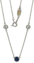 LeVian Suzy Diamonds Suzy Silver 1.50 Ct. Tw. Sapphire Solitaire Station Necklace