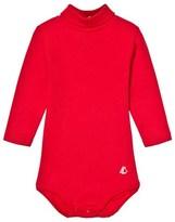 Petit Bateau Red Polo Neck Body