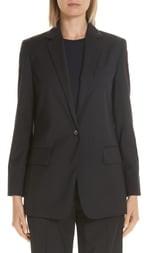 Max Mara Laser Single Button Wool Jacket