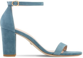 Stuart Weitzman 80mm Nearly Nude Suede Sandals