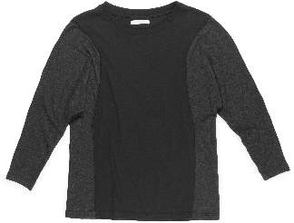 Beaumont Organic Adley Lyocell And Cotton Top - Black And Dark Grey / Small - Black/Grey