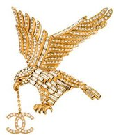 Chanel Crystal Eagle Brooch