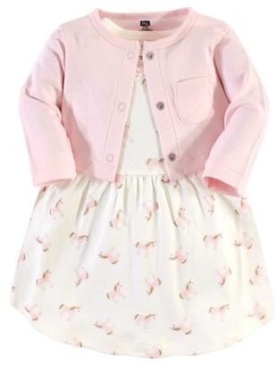 Hudson Baby Baby & Toddler Girl Dress & Cardigan, 2pc Outfit Set