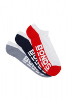 Bonds Mens Logo No Show Sport Socks 3 Pack