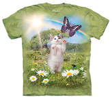 The Mountain Green Kitty in Dreamland Sublimated Tee - Toddler & Girls
