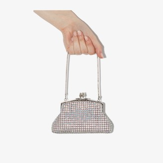 Black & Brown silver Emma crystal clutch bag