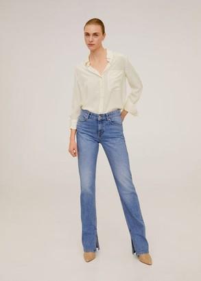 MANGO 100% silk shirt