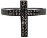 Lynn Ban Pave Cross Tip Ring