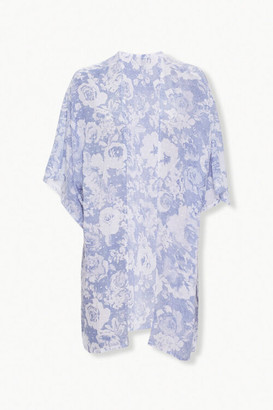 Forever 21 Open-Front Floral Print Kimono