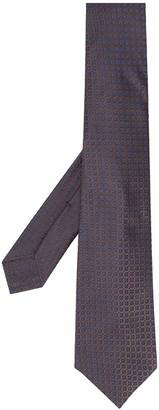 Kiton Floral-Pattern Pointed Tie
