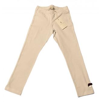 Gucci White Cotton Trousers