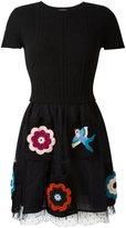 RED Valentino embroidered skirt dress - women - Cotton/Polyamide/Viscose/Virgin Wool - S