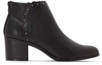 Castaluna Plus Size Wide-Fitting Ankle Boots with Cutout Detail