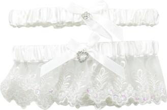 iCollection Women's Plus-Size 2 Piece Toss Garter Set