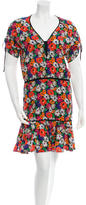 Veronica Beard Silk Floral Printed Dress