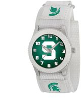 Game Time Rookie Series Michigan State Spartans Silver Tone Watch - COL-ROW-MSU - Kids