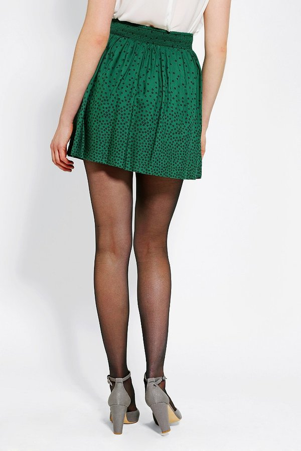 Cooperative Library Button-Front Mini Skirt