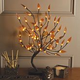 Bed Bath & Beyond 22-Inch Brown Wrapped Amber Leaf LED Lighted Tree