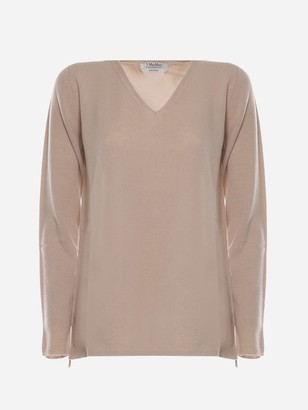 Max Mara V-neck Cotton Thread Sweater