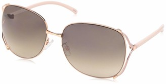 Rocawear Women's R3292 Rectangular Vented Metal Sunglasses with 100% UV Protection 65 mm