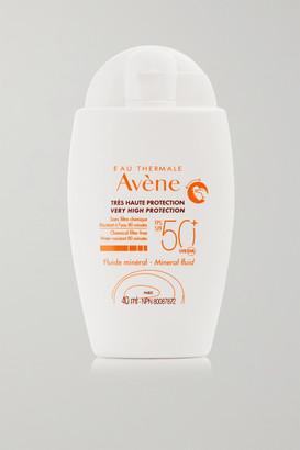 Avene Spf50 Mineral Sunscreen Fluid, 40ml - Colorless