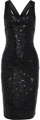 Diane von Furstenberg Mercury Sequined Stretch-tulle Dress