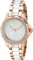 Akribos XXIV Women's AK534RG Swiss Quartz Diamond Ceramic Link Bracelet Watch