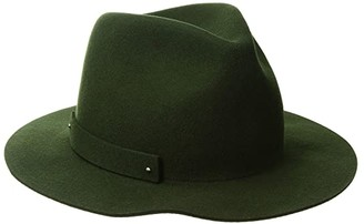 San Diego Hat Company WFH8205 Packable Felt Fedora (Olive) Fedora Hats
