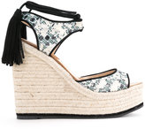 Paul Andrew patterned wedge sandals - women - Goat Skin/rubber - 35