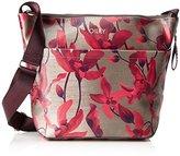 Oilily Jolly Shoulderbag Lvz, Women's Cross-Body Bag, Rot (Dark Red), 12x28x35 cm (B x H T)