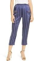 L'Agence Leigh Stripe Crop Silk Pants