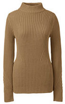Classic Women's Tall Lofty Placed Rib Mock Neck Sweaterr-Ivory