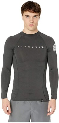 Rip Curl Dawn Patrol UV Tee Long Sleeve (Black Marle) Men's Swimwear