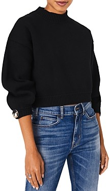 BA&SH ba & sh Brille Mock Neck Sweater
