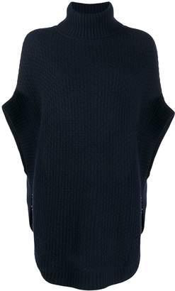 N.Peal waffle knit cape jumper